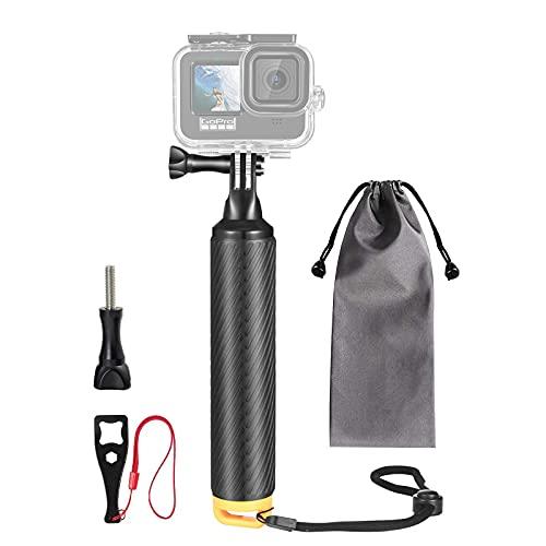 VKESEN Mango Antideslizante Flotante Resistente al Agua, monopié Flotante para cámaras GoPro Hero 10, 9, 8,7, 6, 5, Insta360, dji Osmo