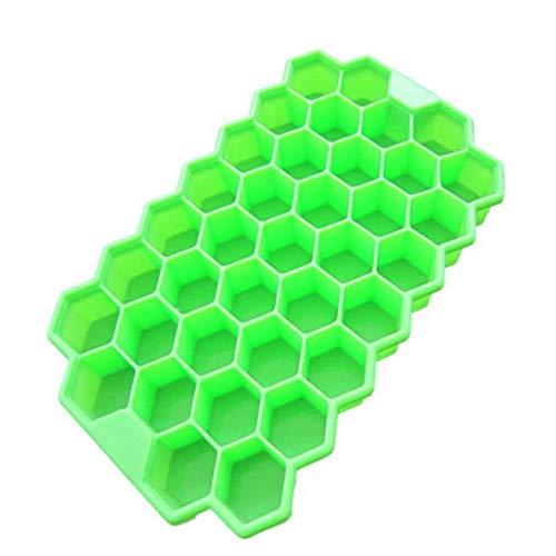 Coner 37 roosters koelkast behandelt vriezer ijsvorm ijsblokjes ijsgelei maker vormvorm honingraat ijslollyvormpjes yoghurtijsdoos, groen