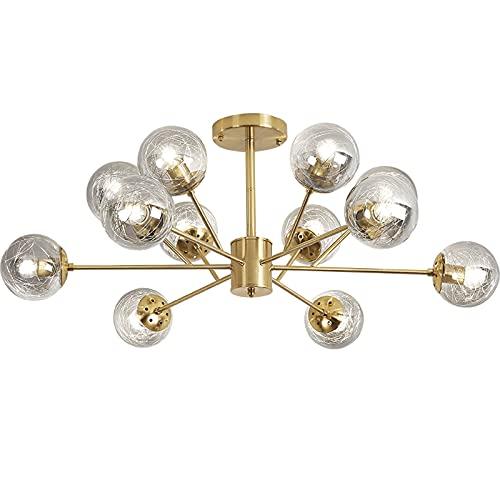 liushop Lámpara de Techo Lámpara de Cristal de 12 Luces Moderna DIRIGIÓ Luz de Techo for Dormitorio,Comedor,Cocina y Oficina. Lámpara empotrada de Techo