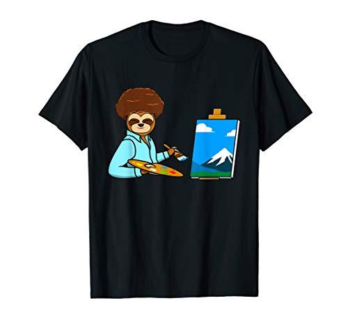 Faultier Maler Zeichnung für Faultier Fans und Künstler T-Shirt
