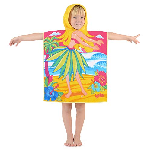 Yello Kinder Hooded Beach Changing Poncho microvezel handdoek