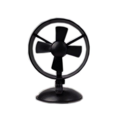 Usb Mini-ventilator met superstil, coole creatieve sucker voor leren kantoor, desktop, auto, auto zwart