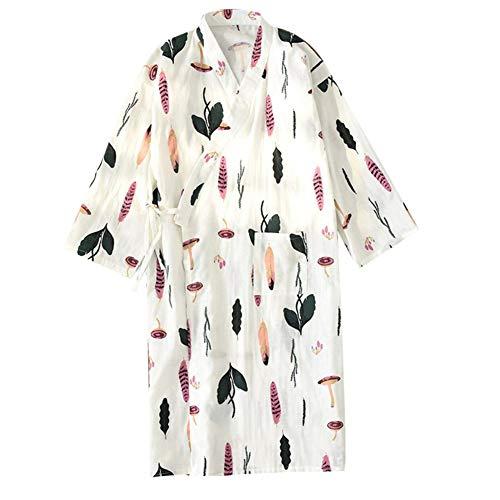 Pijama para Albornoz Yukata Kimono Robe para Mujer [Arco Verde]