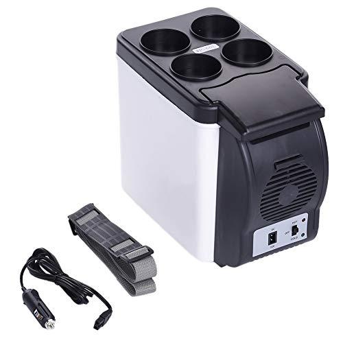 Frigo Portatile Frigorifero Auto Elettrico Frigorifero per Auto Raffreddatore congelatore a compressore Mini Portatile da 6 Litri con Funzione di Raffreddamento e Riscaldamento per Auto, Camion e Camp
