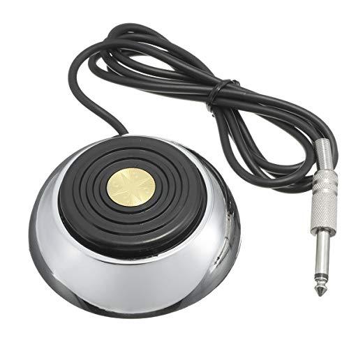SZDZ Fuente de alimentación del Interruptor de Pedal de Pedal de Acero Inoxidable para la máquina de Tatuaje