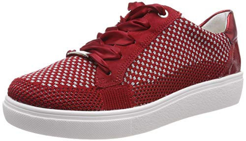 ARA Damen New York 1214582 Sneaker, Rot (Rot-Silber, Rot/Rosso 09), 39 EU