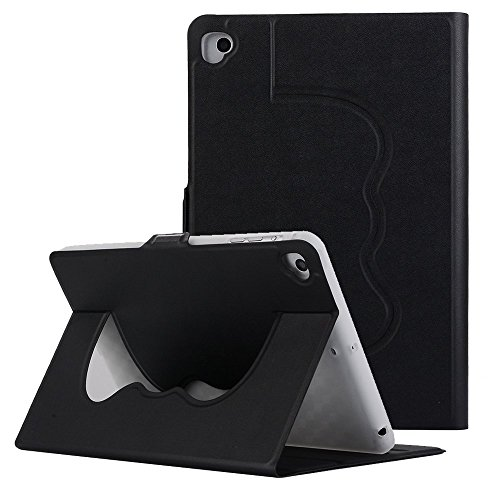 Price comparison product image New iPad 2017 Case,  MeiLiio PU Leather Cover Lightweigh Multi-Angle Viewing with Auto Wake-Sleep Solid Color Smart Cover for iPad Air, 2017 New iPad (Black)