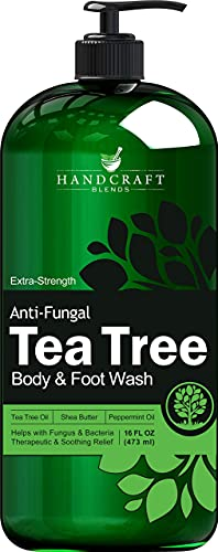 Handcraft Tea Tree Oil Body Wash 16 Oz - Extra Strength Body Wash For Athletes Foot, Nail Fungus, Itchy Skin, Jock Itch, Acne And Eczema - Tea Tree Body Wash For Men & Women - Packaging May Vary