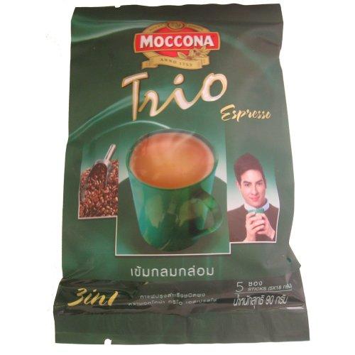 Moccona 6PCS Trio Instant Kaffee gemischt Espresso 3in 1Kaffee Net Wt 90g. Von Thai. Produkt von Thailand