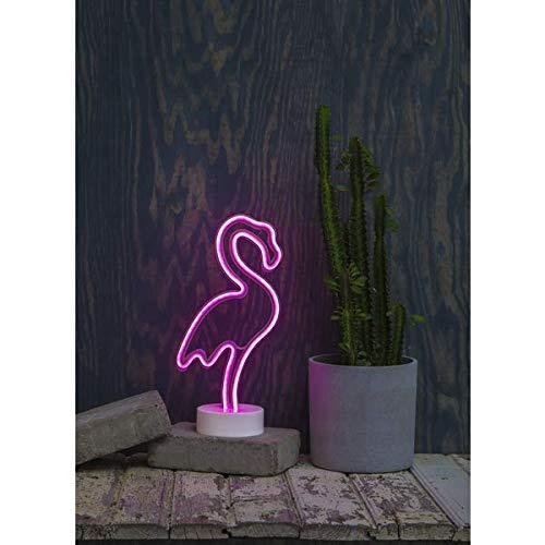 KAMACA Decoración Miami Flamingo Cactus piña Suave luz con 20 Blanco cálido LED una Necesidad para Cualquier Fiesta Fiesta Fiesta