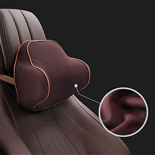 DLSMB Cojín de Espalda Soporte Lumbar Cojín de Asiento: Alivio para la Espalda, ciática, Dolor de coxis y encéfalo, para Silla de Oficina y Auto (Color : Brown)