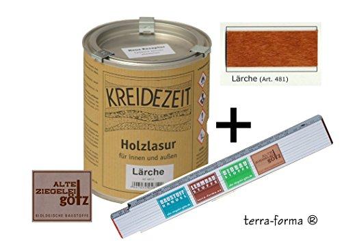 Holzlasur für Innen und außen 0,75 l farbig (Lärche)
