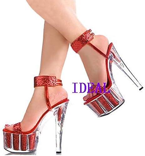 das 15 zentimeter hohen absatz hochzeit schuhe rot - schuhe, sandalen - modell