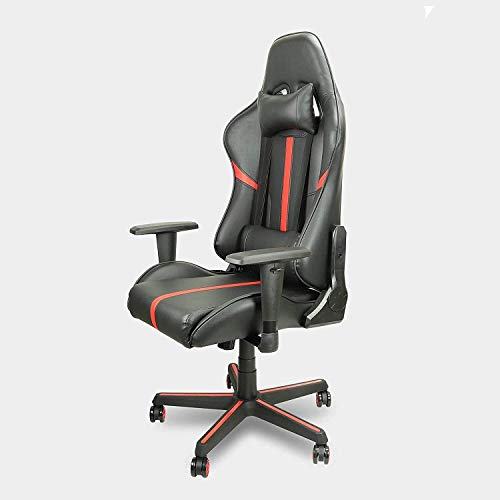 N/Z Home Equipment Office Chair Gaming Chair High Back Leather Supervisor Rotatable Adjustable Office Chair with Casters Adjustable Office Chair with Casters (Color : Red)