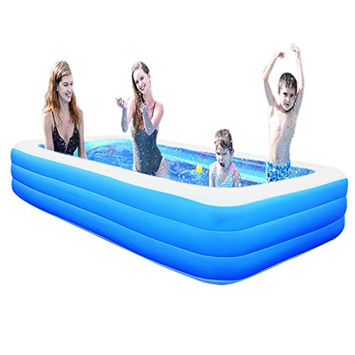 Price comparison product image Inflatable Pools for Kids,  Inflatable Swimming Pools,  Family Swimming Pool,  Swim Center for Kids,  Adults,  Babies,  Toddlers,  Outdoor,  Garden,  Backyard,  103x63x24in,  Blue