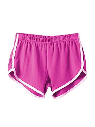 Pantalones cortos de yoga para mujer, de verano, para correr, gimnasio, correr, entrenamiento, cintura elástica, pantalones cortos de playa, pantalones calientes