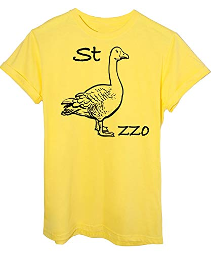 iMage T-Shirt Oca Rebus Maglietta Divertente - Funny - Uomo-L - Gialla