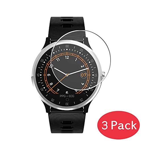 VacFun 3 Piezas Vidrio Templado Protector de Pantalla Compatible con Bakeey A9 Smartwatch Smart Watch, 9H Cristal Screen Protector Película Protectora Reloj Inteligente