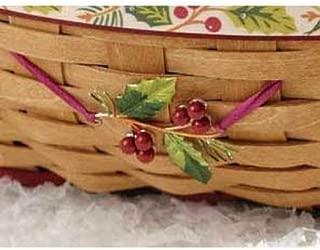 Longaberger Holly Christmas Basket Tie on