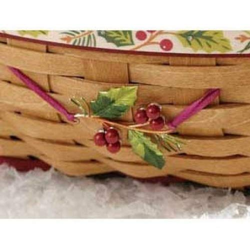 Longaberger Holly Christmas Basket Tie on