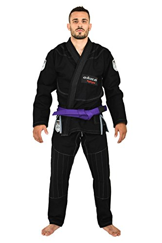 OKAMI Fightgear Herren Bjj Gi SHIELD, black, A2L