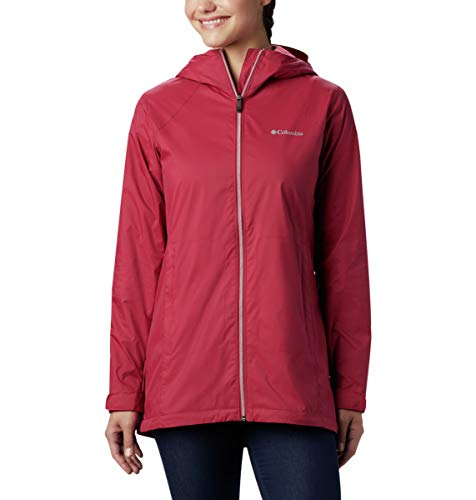 Columbia Women's Switchback Long Jacket, red Orchid/red Orchid Lining, Medium