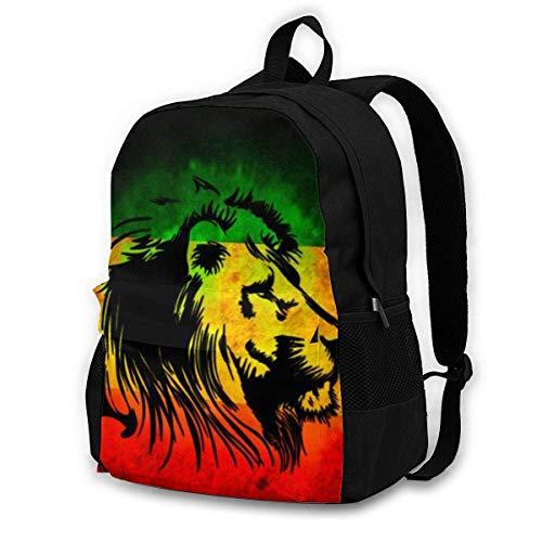 Overlooked Shop Schulrucksack für Mädchen Jungen, Lion of Jamaica Reggae Casual Bookbag für Schulreisen Tagesrucksack für Männer Frauen
