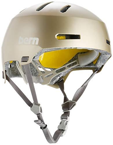 Bern Unisex Macon 2.0 Fahrradhelm Metallic Champagner, Größe M