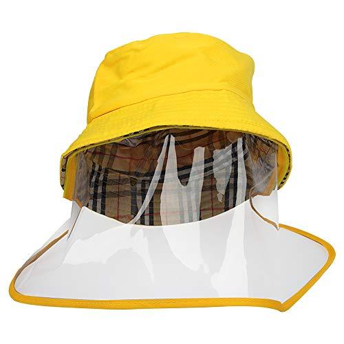 ZoneYan Cappello Pescatore con Visiera Rimovibile, Cappello Visiera Protettiva Bambini, Cappello Protettivo Facciale Bambini, Cappello con Visiera Trasparente, Cappello Antipolvere Visiera Bambini