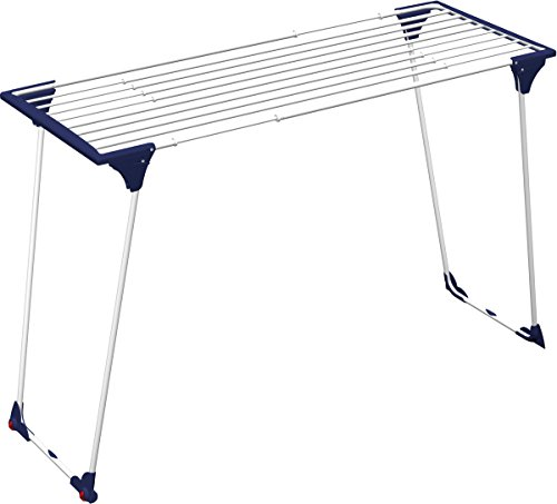 Gimi Dinamik 20 Tendedero de pie Extensible de Acero, 20 m de Longitud de tendido
