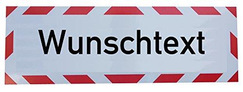UvV Kfz reflektierendes Magnetschild -Wunschtext- | Schild magnetisch | verklebt auf TüV Magnetfolie bis 200 kmh (60 x 20 cm)