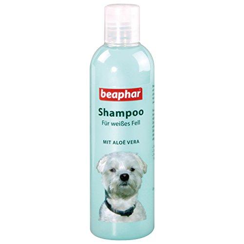 beaphar Hunde Shampoo für weißes Fell | pH neutrales Hundeshampoo | Hunde Shampoo mit Aloe Vera | Shampoo für Malteser & Havaneser | 250 ml