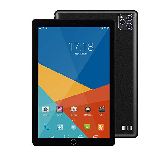 SSSY 10.1' Tablet PC, Android 8.1, 1GB RAM 16GB ROM Quad Core, Cámaras Duales,1280 × 800 IPS, Batería 4000mAh,3G Dual SIM/Face ID/GPS/OTG/Bluetooth