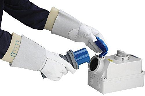 pequeño y compacto Guantes de electricista, blanco 9