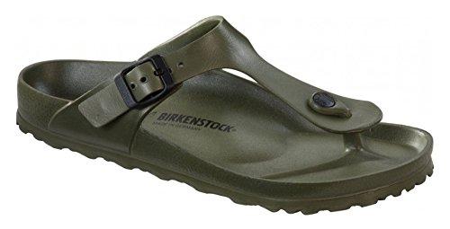 Birkenstock Essentials Unisex Gizeh EVA Sandals, 37 R EU, Khaki, 6-6.5 Women/4-4.5 Men