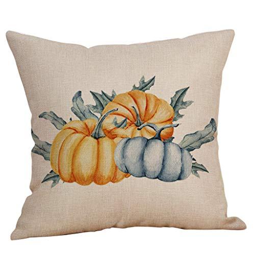 Fasclot Halloween Pillow Cases Linen Sofa Pumpkin Ghosts Cushion Cover Home Decor Home & Garden Pillow Case