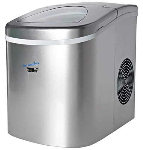 Portable Ice Maker Machine for Countertop TG24 - Makes 26 lbs of Ice per 24 hours - Ice Cubes ready in 8 Minutes - Residential Ice Maker By ThinkGizmos
