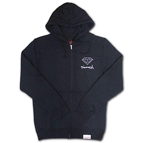 Diamond Supply Co. OG Sign Zip Up Hoodie Navy