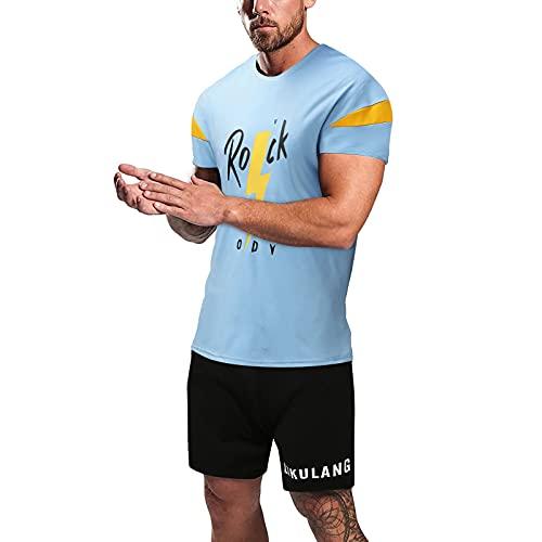 Chándal para hombre con pantalón corto y camiseta con bolsillos A02 115 cm