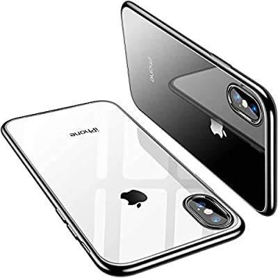 """TORRAS Crystal Clear iPhone Xs Max Case, Soft TPU Thin Cover with Electroplated Edge Slim Phone Case for iPhone Xs Max 6.5"""" (2018)"""
