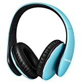 Wireless Over Ear Headphones, Hi-Fi Stereo Bluetooth Headset with Mic, 30 Hours Playtime Quick Charging, Lightweight Foldable Headphone with Soft Earmuffs for Cell Phones TV PC Sport Travel Work