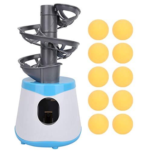 Ruiqas máquina de Pelota de Tenis de Mesa Lanzador portátil de Ping Pong Lanzador ejercitador con 10 Pelotas para niños en Interiores y Exteriores (sin batería)