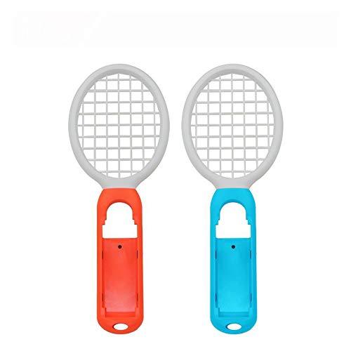 OSTENT Paquete de 2 raquetas de tenis Mario Handle Holder para Nintendo Switch Joy-Con Controller Color Rojo y Verde