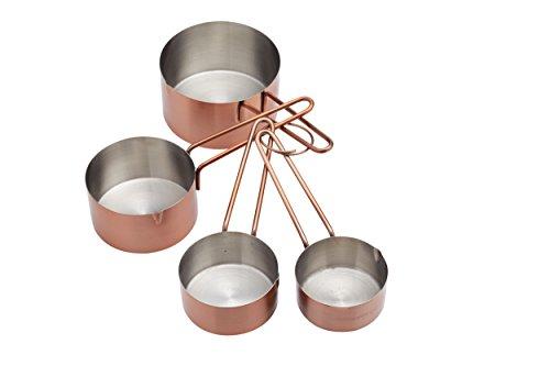 Kitchen Craft Master Class-Misurini in Acciaio Inox (Confezione da 4), Finitura in Rame