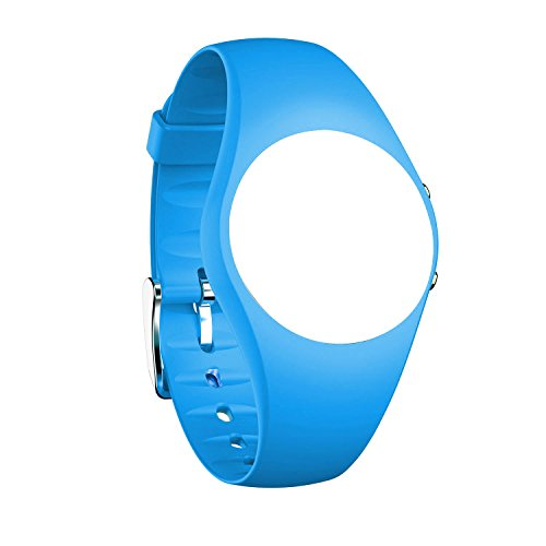 feifuns Replacement Band for Non-Bluetooth Swimming Watch Water-Resistant Pedometer Watch (Blue)