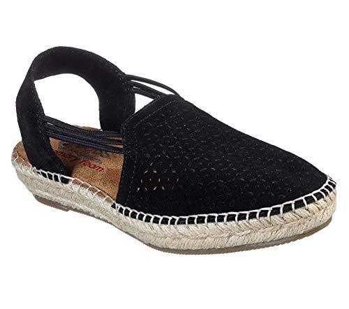 Skechers BOBS Catalina - Alpargata de estrella de arena para mujer, negro...