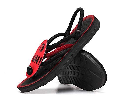 MedusaABCZeus Zapatos de Playa y Piscina para,Chanclas, Zapatillas Romanas y Sandalias-Rojo_40,Chanclas Unisex Adulto