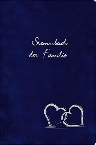 Stammbuch MAGRIT - dunkelblau, Velours, Silberprägung, Stammbuchformat A5