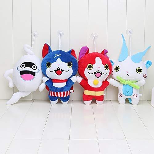 JIAL Bleyoum füllte Spielzeug 4 Teile/Satz 20 cm Japan Yokai Uhr rote Katze koma san Nyan flüstern Youkai Uhr plüschtier weiche Puppe Chongxiang