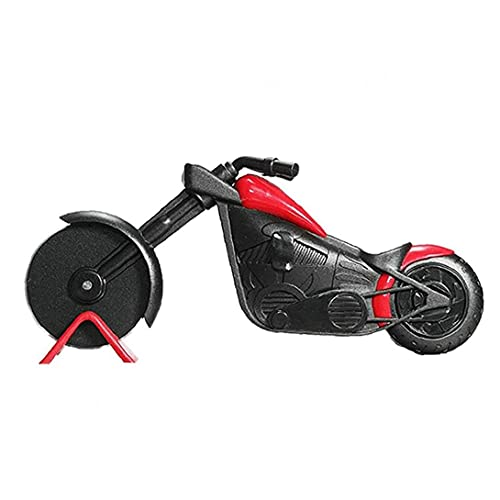 Yililay Motorcycle Pizza Slicer Stainless Steel Plastic Motorbike Shape Roller Pizza Chopper